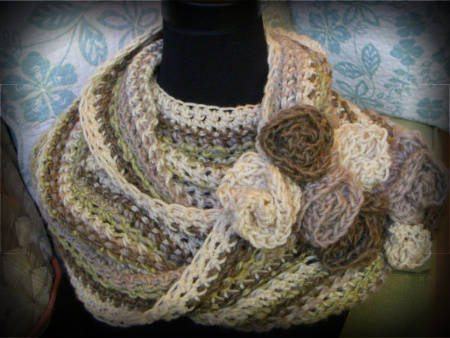 striped infinity scarf 100 Unique Crochet Scarves