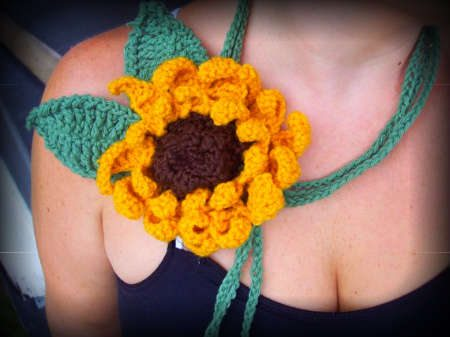 sunflower crochet 100 Unique Crochet Scarves