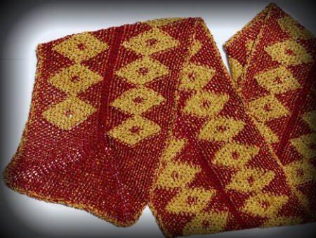 tapestry crochet scarf