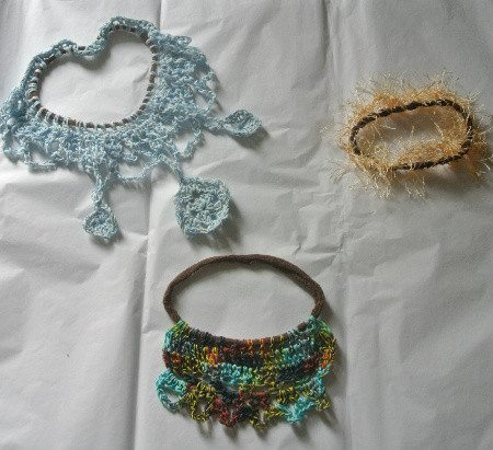 thread crochet necklace