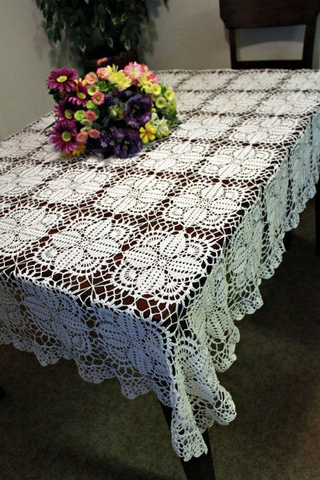 thread crochet tablecloth Etsy Crochet: Thread Tablecloth