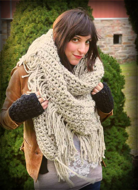 triangle crochet scarf 100 Unique Crochet Scarves