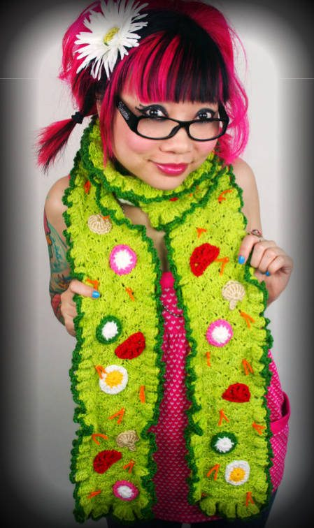 twinkie chan crochet scarf 100 Unique Crochet Scarves