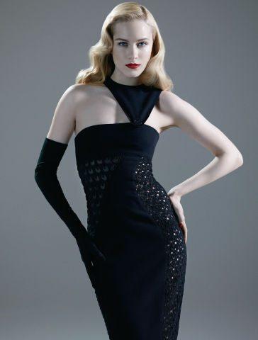 versace crochet gown