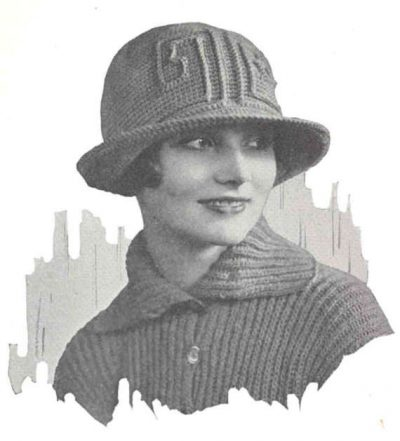 1920s crochet hat 400x441 100 Unique Crochet Hats