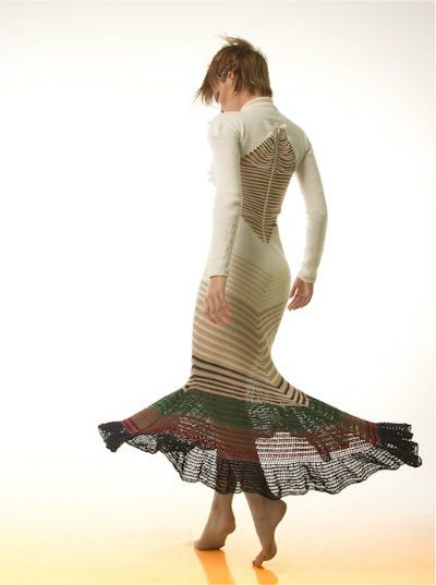 amazing crochet dress Helen Rödel Blurs Line Between Crochet Fashion and Art
