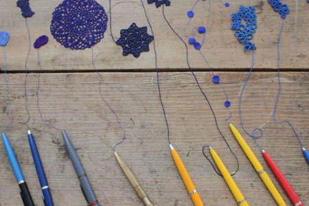 blue doily art Conceptual Crochet Artist Anu Tuominen