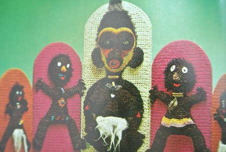 crochet art dolls Edgy 1970s Crochet Designers: Del Feldman