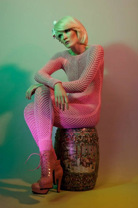 crochet catsuit Helen Rödel Blurs Line Between Crochet Fashion and Art