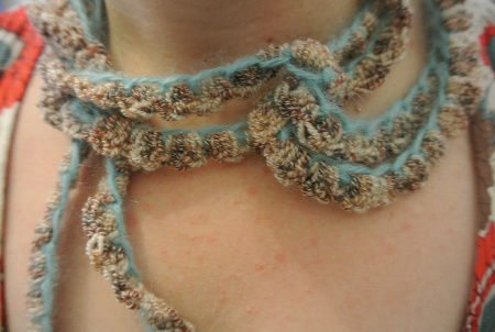 crochet chain necklace Same Crochet Necklace 3 Ways