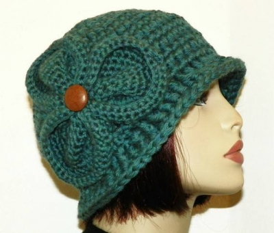 crochet flapper hat 400x341 100 Unique Crochet Hats