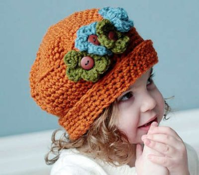 crochet floral hat 400x352 100 Unique Crochet Hats