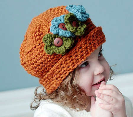 Floral Crochet Hat Pattern : ????? 100 Unique Crochet Hats - ????? - ???