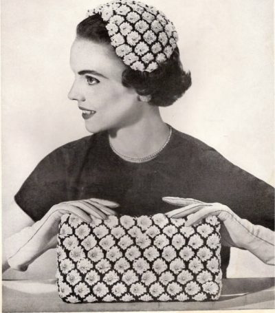 crochet hat and bag 400x455 100 Unique Crochet Hats