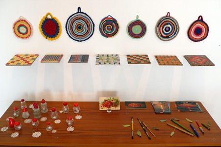 crochet kitchen Conceptual Crochet Artist Anu Tuominen