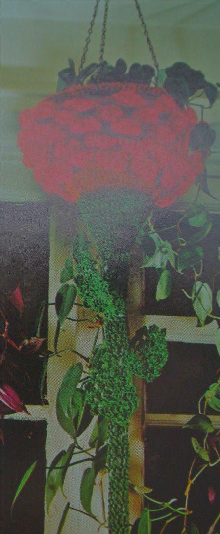 crochet plant holder Edgy 1970s Crochet Designers: Del Feldman