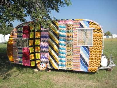 crochet rv Living Inside of Crochet: Crocheted Rooms, Tents and More