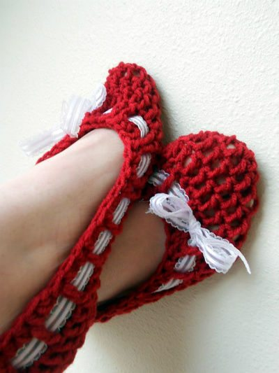 Post image for Etsy Crochet: Ribbon Shoes