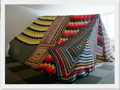 crochet tent Living Inside of Crochet: Crocheted Rooms, Tents and More