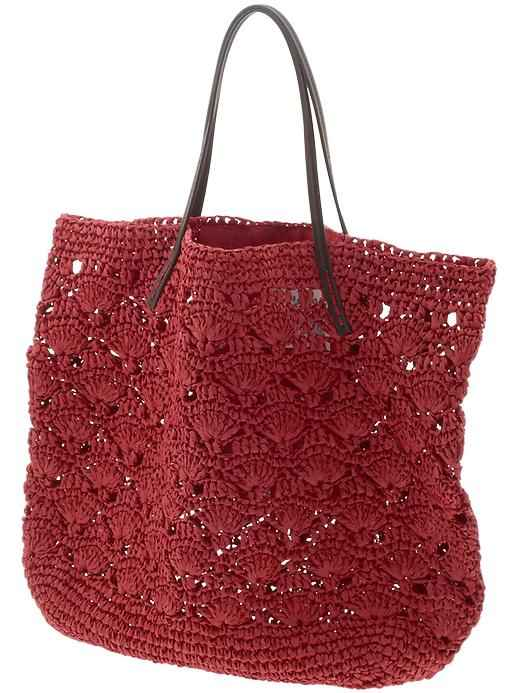 Crochet Handbags : Michael Stars Lace Crochet Tote Bag