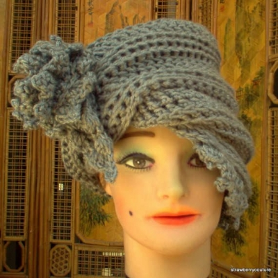 custom crochet cloche hat 400x400 100 Unique Crochet Hats