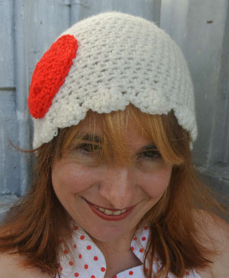cute crochet hat1 365 Ways to Wear Crochet: Heart Hat