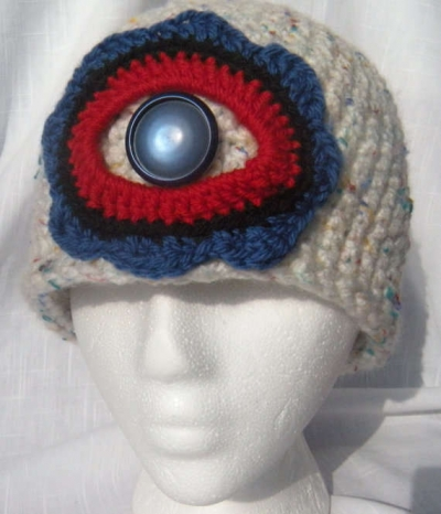 cyclops crochet cloche 400x466 100 Unique Crochet Hats