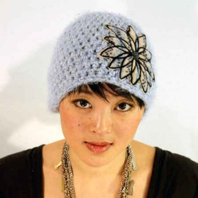 embellished crochet cloche 400x400 100 Unique Crochet Hats