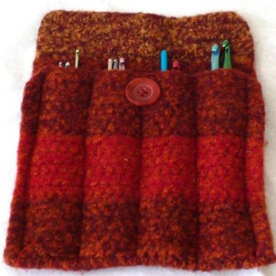 felted crochet hooks organizer 400x400 10 Smart Ways to Organize Your Crochet Hooks