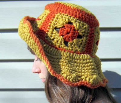 granny square hat 400x340 100 Unique Crochet Hats