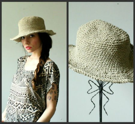 Post image for Etsy Crochet: Hemp Crochet Hat
