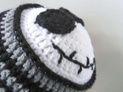 Crochet Jack Skellington : Jack Skellington Crochet Hat from Jenn Likes Yarn