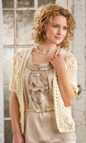 lace crochet jacket Pin It! Crochet! Magazine Giveaway