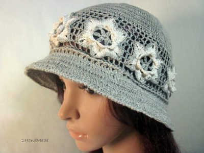 linen cloche hat 400x300 100 Unique Crochet Hats