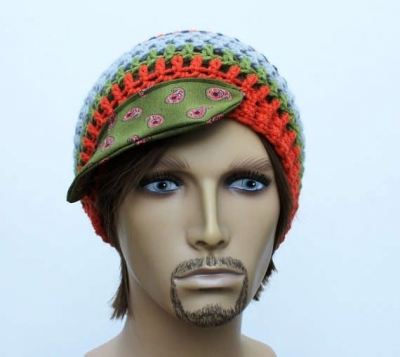 mens crochet beanie 400x357 100 Unique Crochet Hats