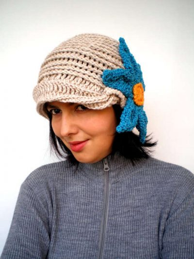 merino cloche hat 400x533 100 Unique Crochet Hats