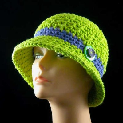 neon cotton cloche 400x400 100 Unique Crochet Hats