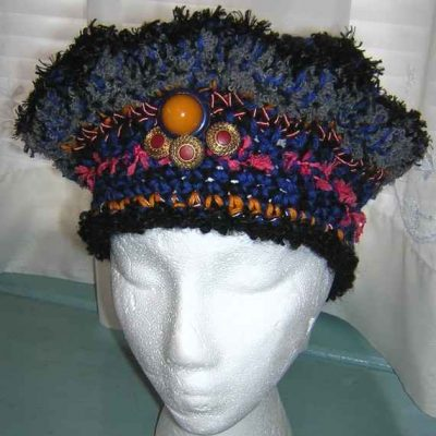 novelty yarn crochet hat 400x400 100 Unique Crochet Hats
