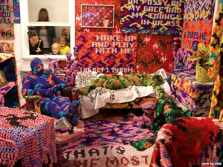 olek crochet room Living Inside of Crochet: Crocheted Rooms, Tents and More