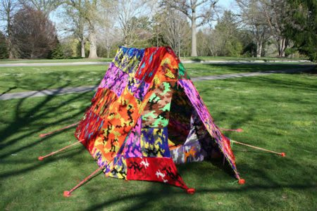 olek crochet tent Living Inside of Crochet: Crocheted Rooms, Tents and More
