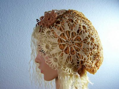 recycled doily hat 400x300 100 Unique Crochet Hats