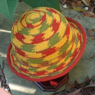striped bucket hat 100 Unique Crochet Hats