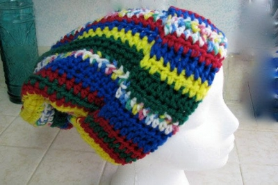 vertical stripes crochet hat 400x266 100 Unique Crochet Hats