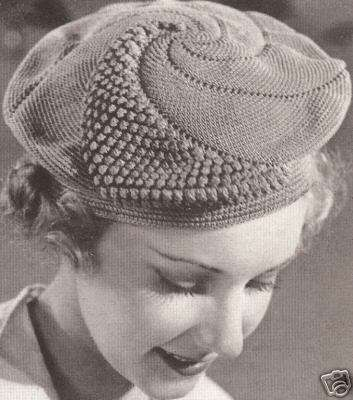 vintage crochet beret 100 Unique Crochet Hats
