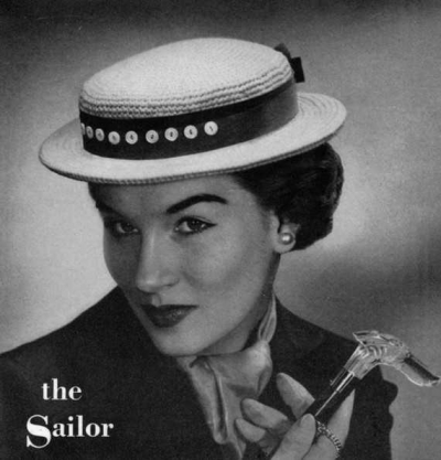vintage crochet sailor hat 400x417 100 Unique Crochet Hats