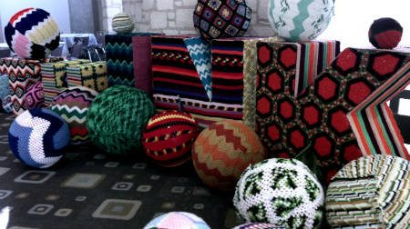 yarnbombed room Living Inside of Crochet: Crocheted Rooms, Tents and More