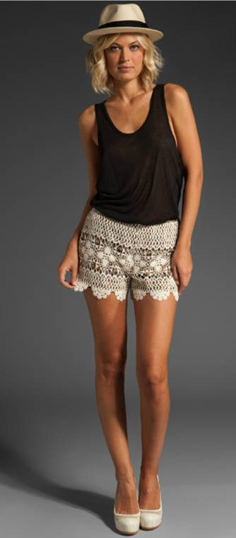 anna sui crochet shorts 25 Ravishing Pairs of Crochet Shorts