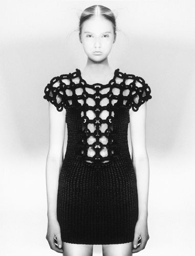black crochet dress Jaw Dropping Crochet Fashion from Sandra Backlund