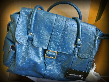 blue jordana paige bag Jordana Paige = Stylish Bags for Crocheters to Carry Their WIPs