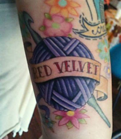 branded crochet tattoo Hooked on Ink: 10 Cool Crochet Tattoos